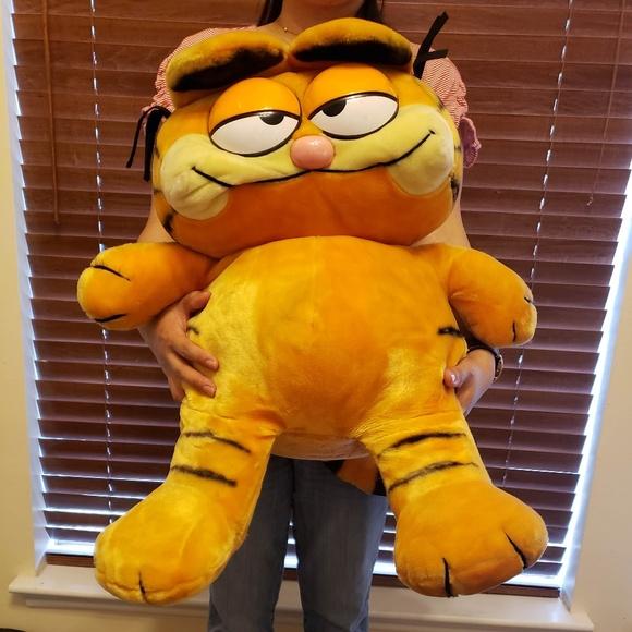 Garfield Other Vintage Huge Xxl Plush Animal 1981 Cat Poshmark